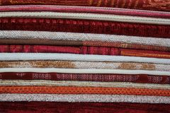 Fabrics combined in numbers Royalty Free Stock Photography