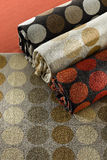 Fabrics for curtain or upholstery Stock Image