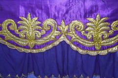 Fabrics decoration. Beautiful of purple fabrics decoration Royalty Free Stock Image