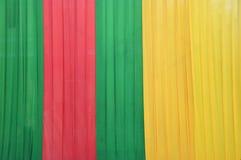 Fabrics decoration. Beautiful of colorful fabrics decoration Royalty Free Stock Photography