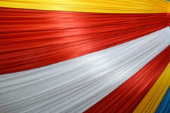 Fabrics decoration. Beautiful colorful fabrics decoration pattern Royalty Free Stock Images