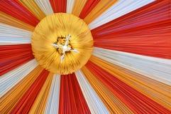 Fabrics decoration. Beautiful fabrics decoration with light on the ceiling Stock Images