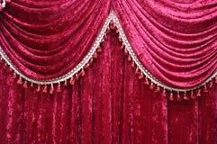 Fabrics decoration. Beautiful pattern red fabrics decoration Stock Image
