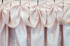 Fabrics decoration. A beautiful pink fabrics decoration Royalty Free Stock Photos