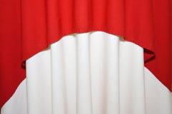 Fabrics decoration. Beautiful red and white fabrics decoration Royalty Free Stock Photo