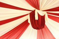Fabrics decoration. Beautiful red and white fabrics decoration Royalty Free Stock Images