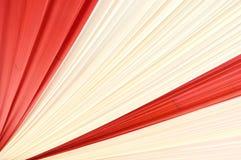 Fabrics decoration. Beautiful red and white fabrics decoration Royalty Free Stock Photos