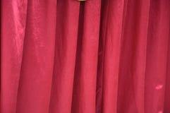 Fabrics decoration. Beautiful red and yellow fabrics decoration Stock Photo