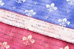 Fabrics with Fleur de Lis Stock Photos