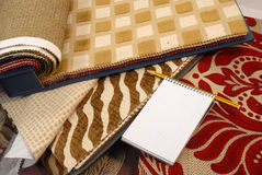 Fabrics for home decoration royalty free stock photo
