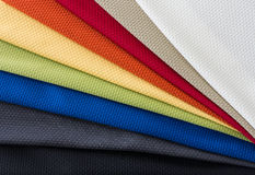 Fabrics of multi colors samples Royalty Free Stock Images