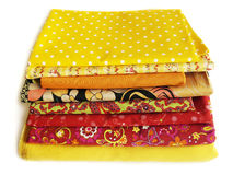 Fabrics for patchwork and sewing Royalty Free Stock Photo