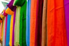 Fabrics rainbow Royalty Free Stock Images