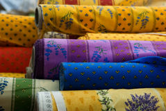 Fabrics rolls Stock Photography