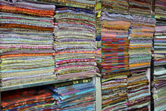 Fabrics and scarves Royalty Free Stock Photos
