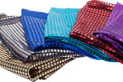 Fabrics with sequins Stock Photography