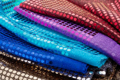 Fabrics with sequins Stock Images