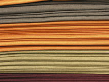 Fabrics stack. Different colours upholstery fabrics stack Royalty Free Stock Photo