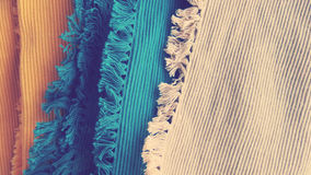 Fabrics for summer table dressing. Detail background image for home decoration Stock Images