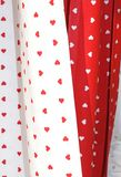 Fabrics and tablecloths with heart shape Stock Photo