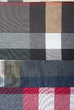 Fabrics textile. Cotton Fabric Sample Stock Photo