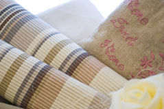 Fabrics and textile products Stock Photo