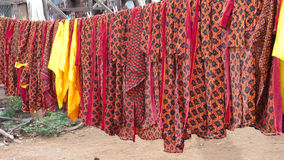 Fabrics with traditional Khmer patterns Royalty Free Stock Photo