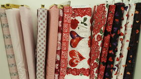 Fabrics  Valentine Royalty Free Stock Image