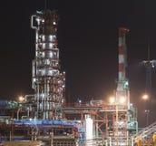 Fabriek bij nacht Stock Foto's