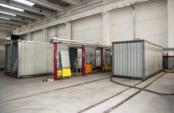 Fabriek: biogas energieke valorisatie Royalty-vrije Stock Foto