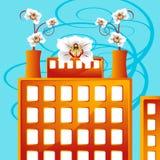 Fabriek die met Zaken bloeit Royalty-vrije Stock Foto's