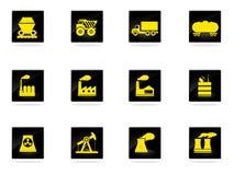 Fabriek en de Industriesymbolen Stock Afbeelding
