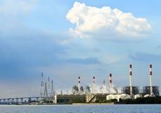 Fabriek en milieu Stock Foto