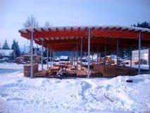 Fabriek gezaagd hout stock afbeelding