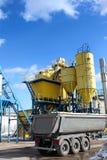 Fabriek, industrieel schot. royalty-vrije stock afbeeldingen
