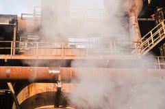 Fabriek met rook. Stock Foto