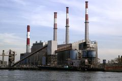 Fabriek in New York royalty-vrije stock foto's