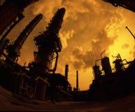Fabriek onder de hemel Stock Afbeelding