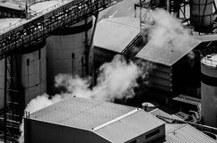 Fabriek in portustad Royalty-vrije Stock Foto