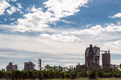 Fabriek in Sagunto Stock Afbeelding