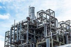 Fabriek van de raffinaderij royalty-vrije stock afbeelding