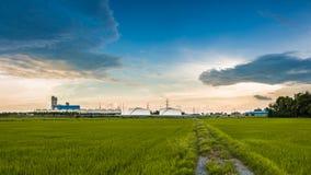 Fabriek van gebied Stock Foto's