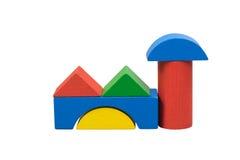 Fabriek van gekleurd houten speelgoed Royalty-vrije Stock Foto's