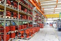 Fabriek voor de vervaardiging van elektrische motoren voor de industrie - hallo royalty-vrije stock foto's