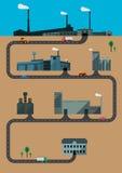 fabrieken Stock Foto