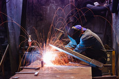 Fabrieksarbeider royalty-vrije stock foto's