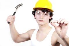 Fabrieksarbeider Stock Afbeeldingen