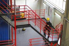 Fabrieksarbeider stock fotografie
