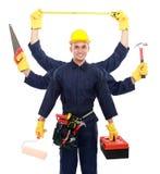 Fabrieksarbeider klaar te werken royalty-vrije stock foto