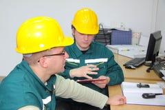Fabrieksarbeiders Stock Afbeelding